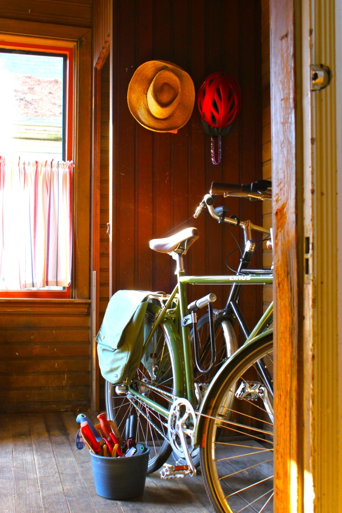 Jack's bike in the old servant's entrance