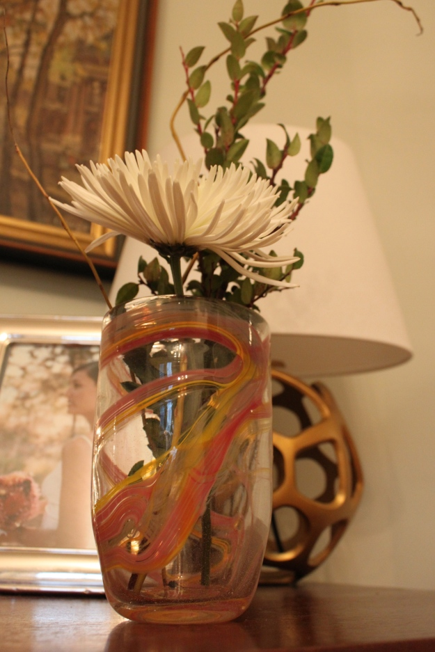 $25 hand-blown glass vase by the students at Bird Street Community Center