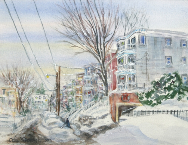 Lingering Flurries by Celia McDonough is featured in the 2013 Celebrate Dorchester Calendar
